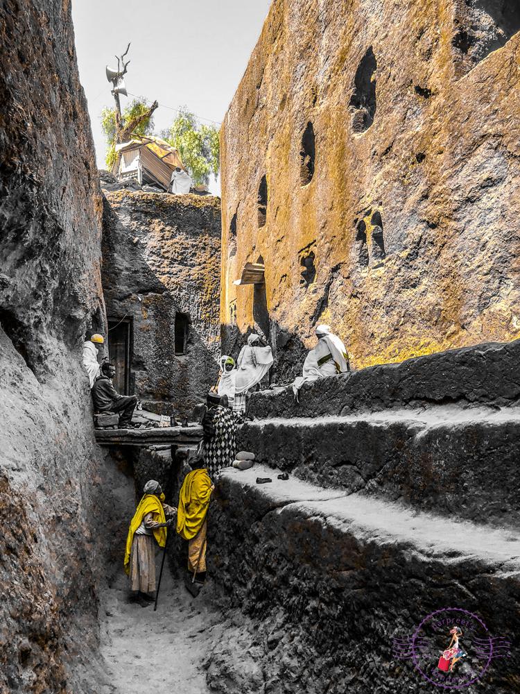 Pilgrims in Lalibela