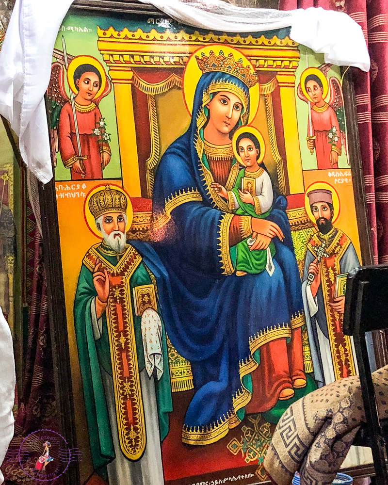 Portrait of Our Lady in Bet Maryam