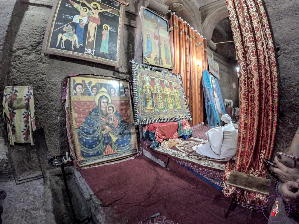 The altar at Bet Medhane Alem