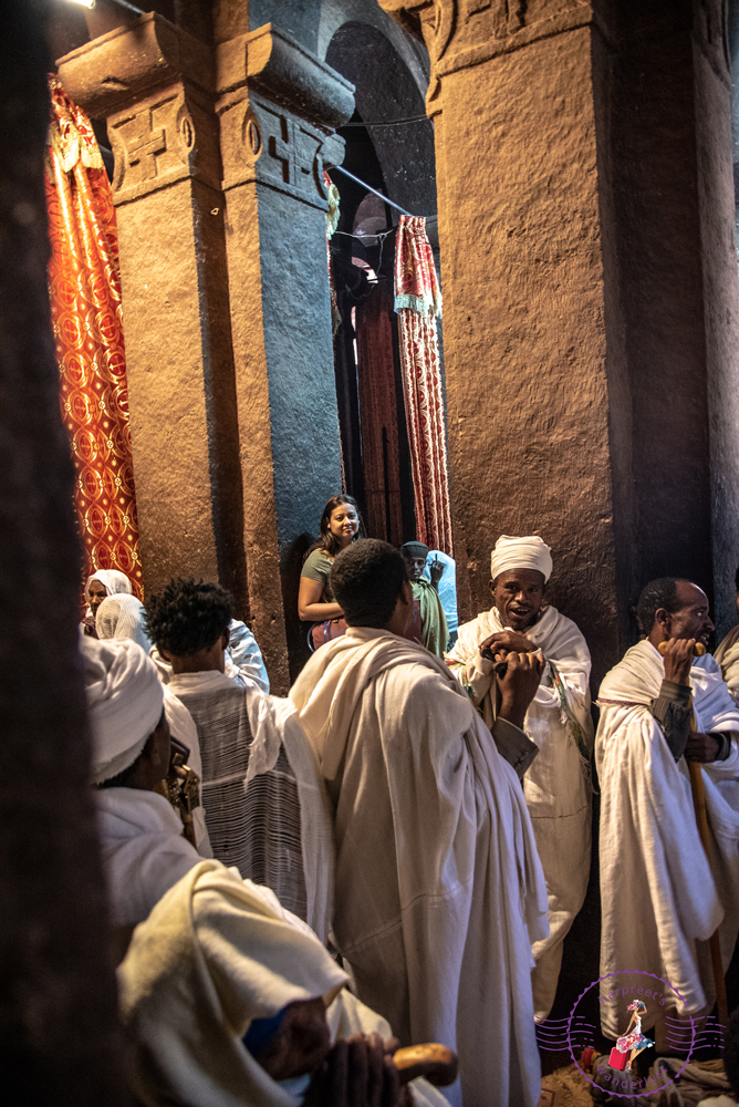 Witnessing a chanting ceremony at Debre Sina Mikael