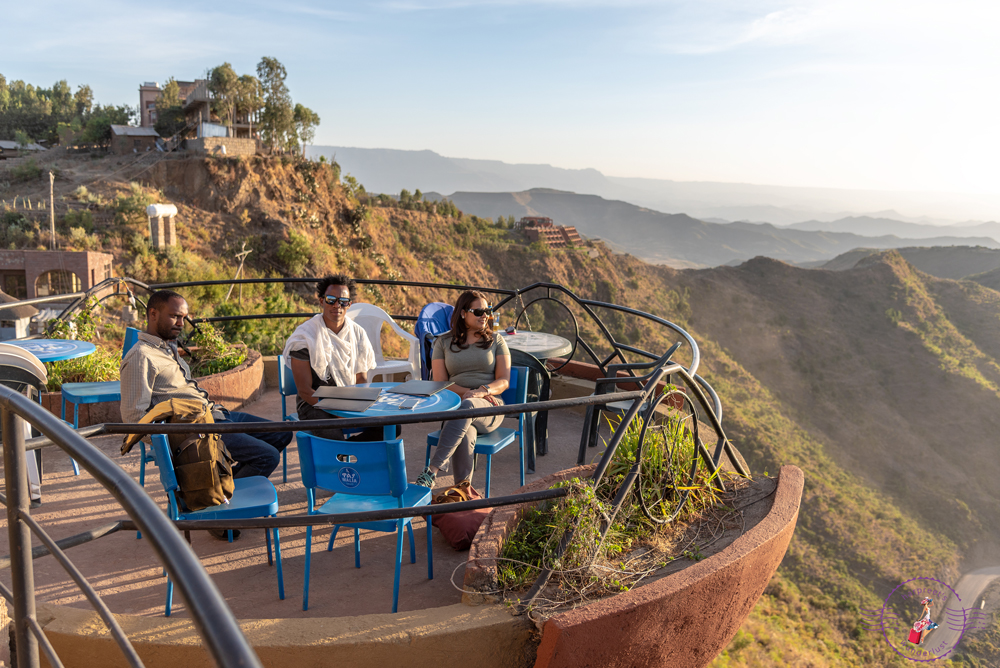 Sundowners on the terrace at Ben Abeba