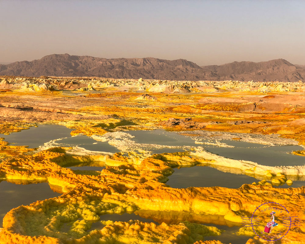 The martian like landscapes - sulphur lakes of Dallol