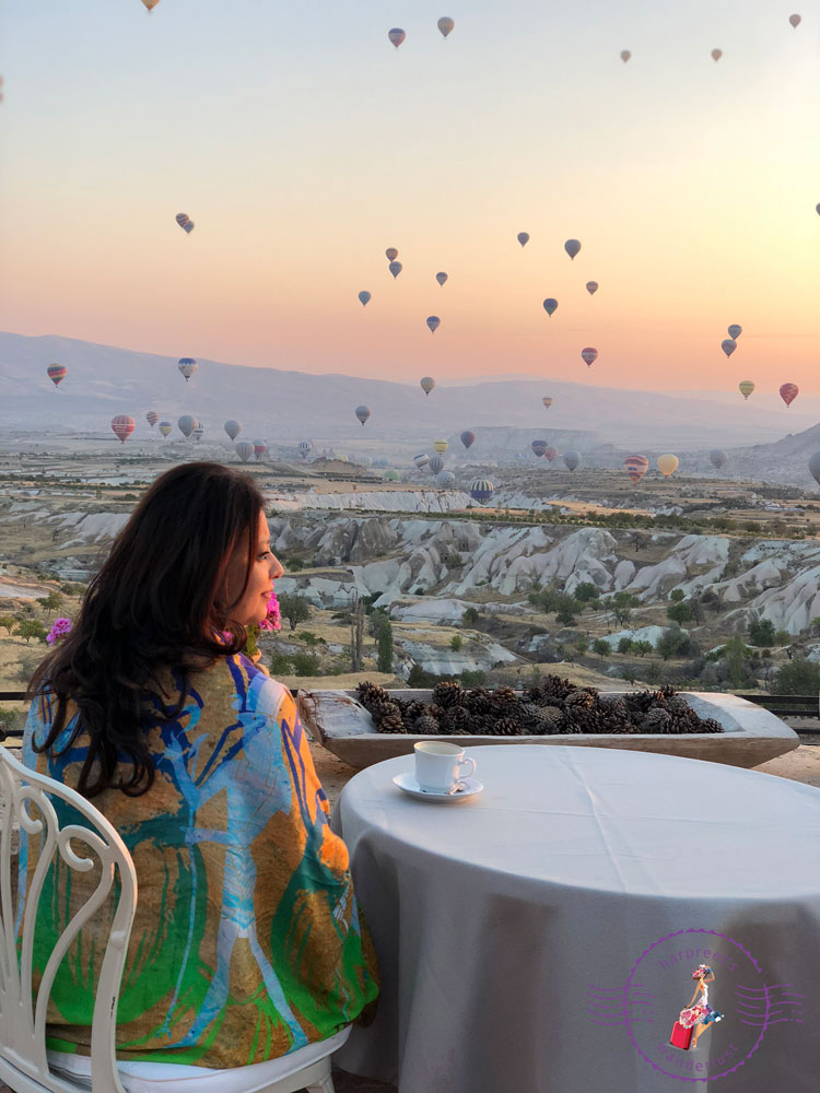 Watching Hot Air Balloons in Cappadocia