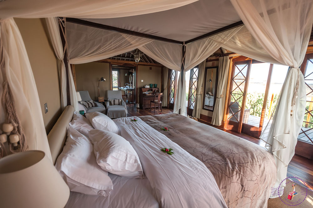The king size bed in our beautiful villa